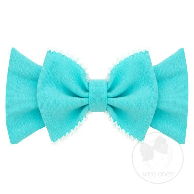 Medium Cotton Jersey Bowtie Band with Moonstitch