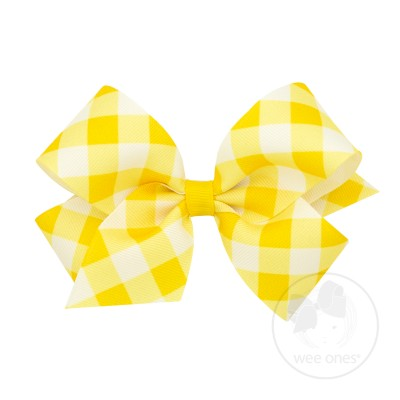 Medium Jumbo Check Print Bow