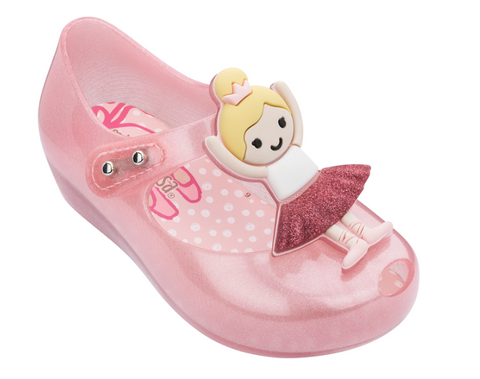 Mini Melissa Ultragirl Pink and Yellow Ballerina