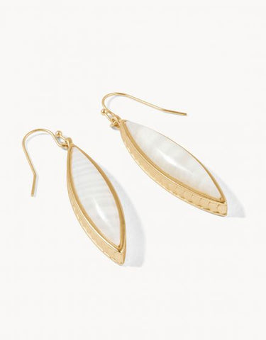 Naia Marquise Earrings White