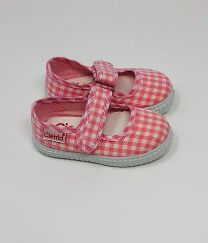 Girl Mary Jane - Pink Gingham