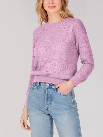Electric Lilac Cable Knit Sweater