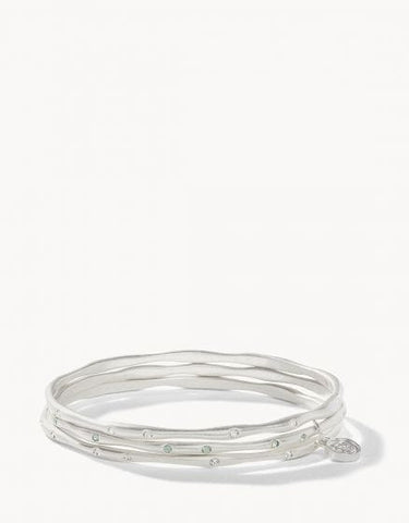 Sprinkles Bangle Stack Multi Silver