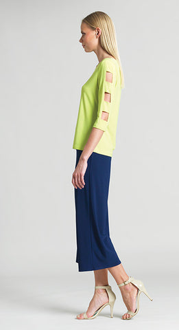 Ladder Sleeve Top - Lime