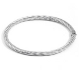 Thin, Shiny Metal Bangle with All Over Swirl Design