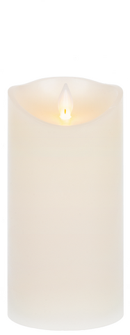 "3x6"" Wax LED Pillar Candle"