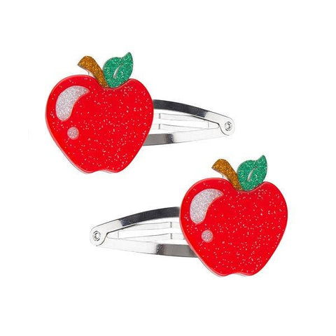 Apple Hair Clip - Snap Clip