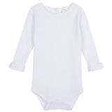 Girl's Long Sleeve Ruffle Infant Bodysuit
