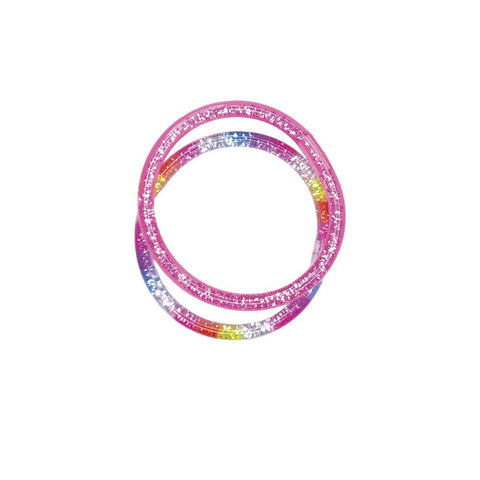 Glitter Spangle Bangles 2 pc Set