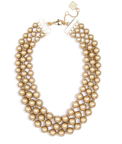 Graduated Gold Collar Necklace