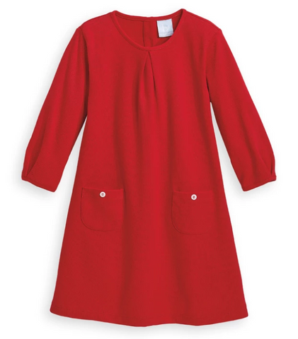 Jersey Hartford Dress-Red Pique