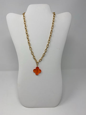 Folli Necklace - Clear Orange