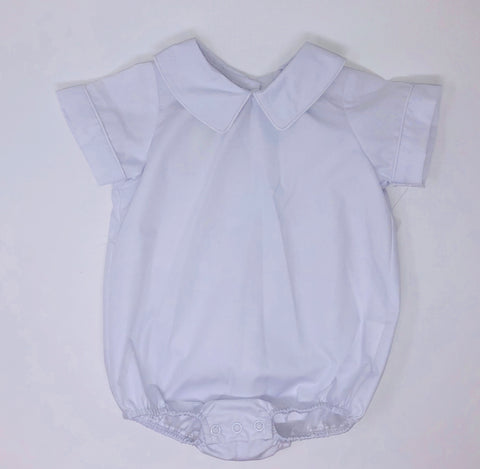Basic Boy Onesie Woven with Pointed Collar