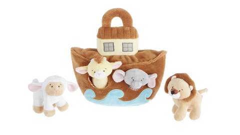 "9"" Noah Ark Learn & Grow 5pc Set"