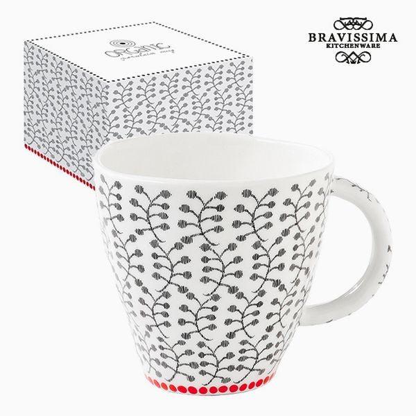 Tasse mit Box Porzellan Blomster by Bravissima Kitchen