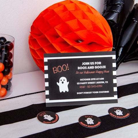 Halloween Invitation and Thank you Tags