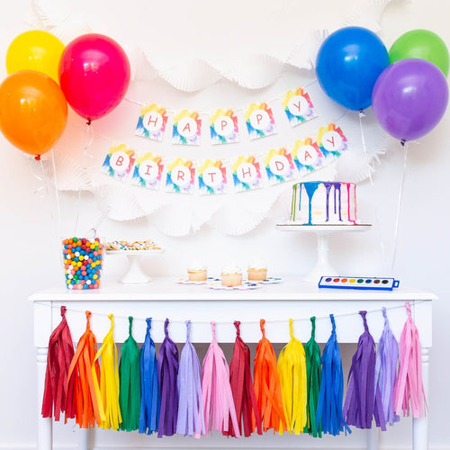 Rainbow Art Party Supplies
