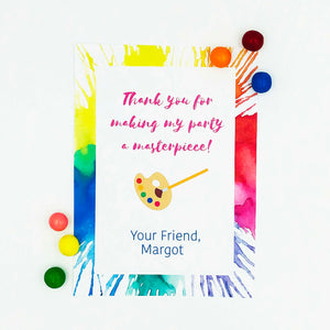 Art Party Thank You Note