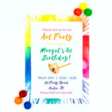 Load image into Gallery viewer, Bright Art Party Invitation