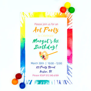 Bright Art Party Invitation