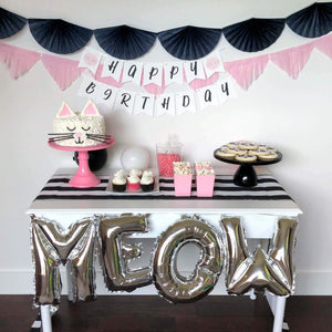 Kids cat birthday party decorations