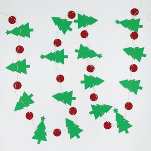 Christmas Tree Garland in green and red