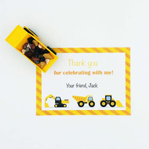 Construction Party Thank You Note