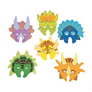 Fun foam dinosaur mask party favor