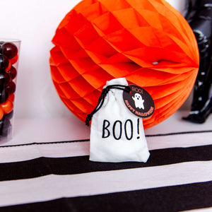 Black and white Halloween bag