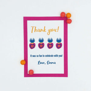 Let's Party Thank You Note