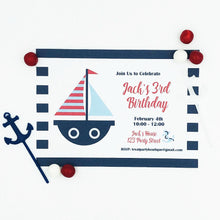Load image into Gallery viewer, Nautical Party Invitation