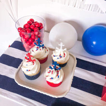 Load image into Gallery viewer, Nautical party anchor cupcake picks
