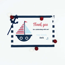 Load image into Gallery viewer, Nautical Party Thank You Note