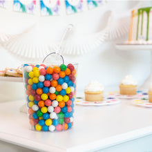 Load image into Gallery viewer, Rainbow Party Supplies Clear Container with Gumballs