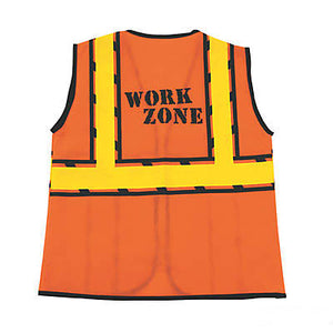 Construction Worker Costume Vest back view