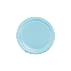 Light blue small paper plates