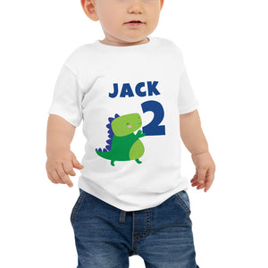 Dinosaur Birthday Shirt for Baby Jersey Short Sleeve Tee