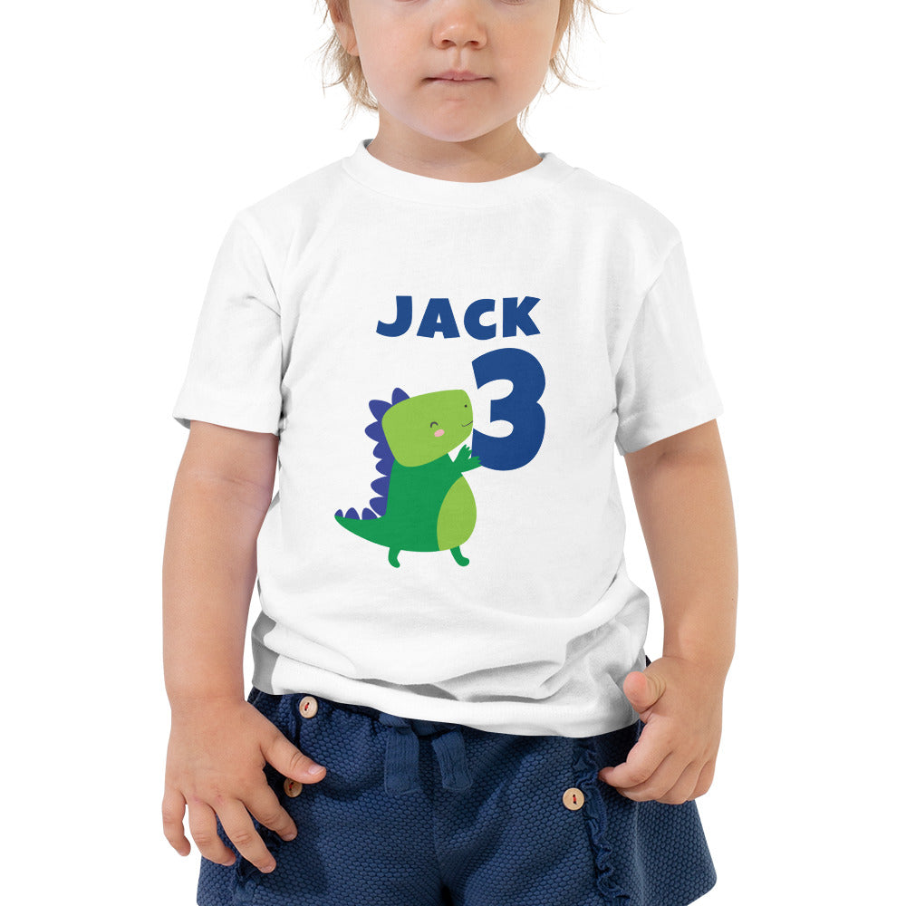 Dinosaur Birthday Shirt Toddler Short Sleeve Tee