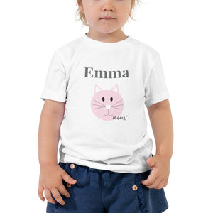 Kitty Cat Birthday Shirt Toddler Short Sleeve Tee