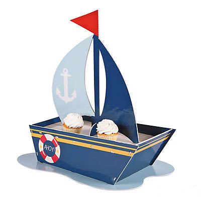 Nautical Sailboat Cupcake Holder