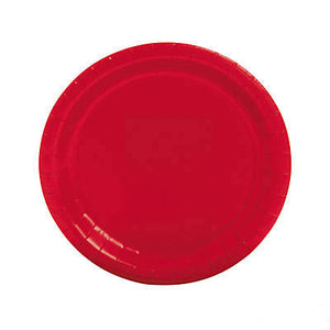 Red Large Round Paper Plate