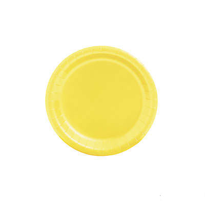 Yellow Small Round Paper Plate