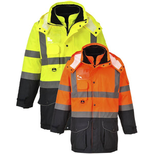 Portwest Hi-Vis 7-in-1 Contrast Traffic Jacket S426