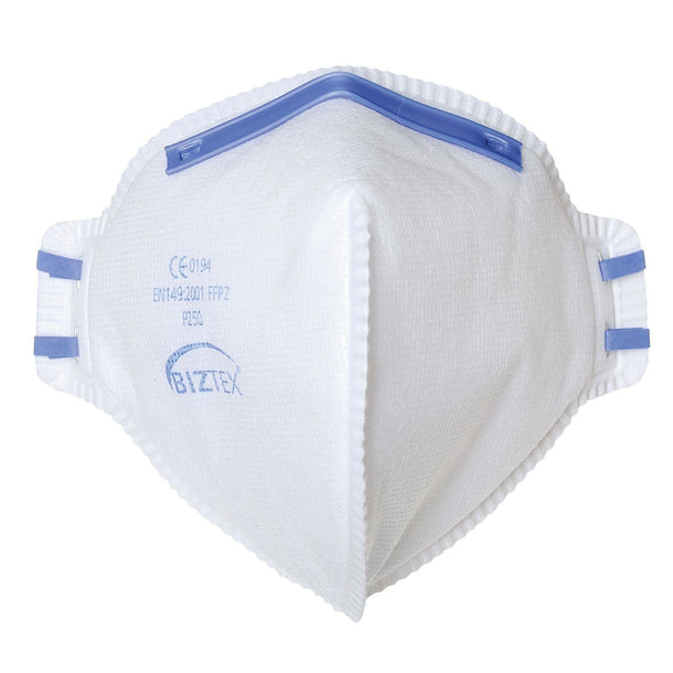 Portwest FFP2 Dust Mist Fold Flat Respirator White One Size (20) P250
