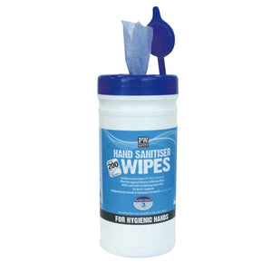 Portwest Hand Sanitiser Wipes (200 Wipes) Blue One Size  IW40