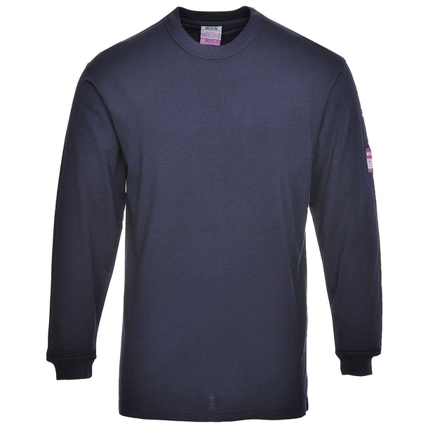Portwest Flame Resistant Anti-Static Long Sleeve T-Shirt FR11