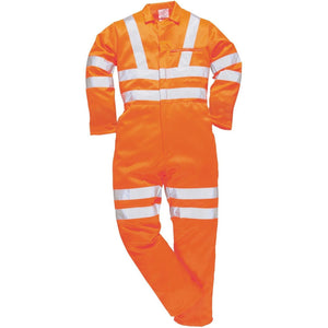 Portwest Hi-Vis Poly-cotton Coverall GO/RT RT42