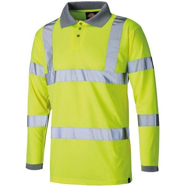 Dickies Hi-Vis Long Sleeve Polo Shirt