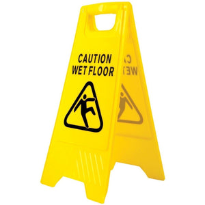 Portwest Wet Floor Warning Sign Yellow One Size  HV20