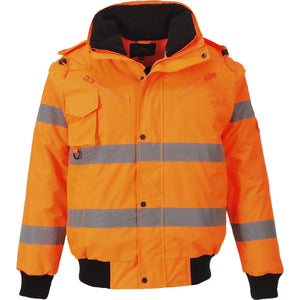 Portwest Hi-Vis 3-in-1 Bomber Jacket C467
